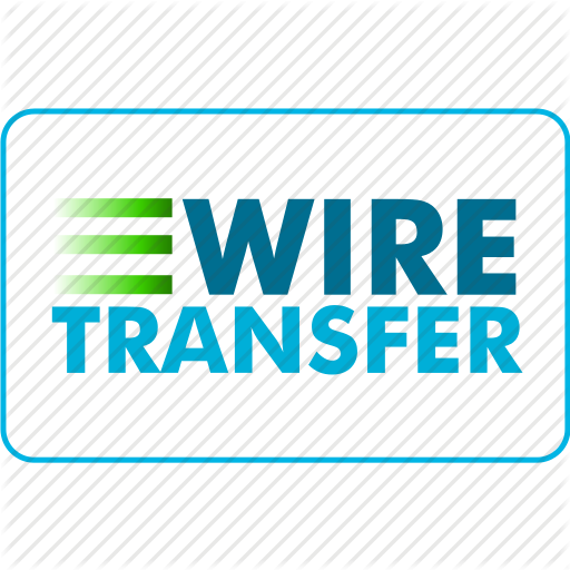 Domestic and International Wire tranare accepted.